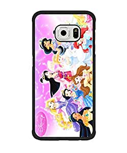 Animated Disney Princess Anti Slip Ultra Thin Samsung Galaxy S6 Edge (NOT FIT Para S6) Anti Dust TPU Plastic Cover