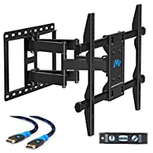 Mounting Dream MD2296 TV Wall Mount Bracket with Full Motion Dual Articulating Arms for most of 42-70 Inches LED, LCD and Plasma TVs up to VESA 600x400mm and 100lbs