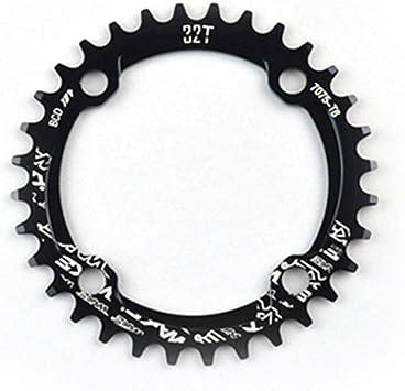 Anillo de cadena de rueda de cadena ancha y angosta para bicicleta 104 mm BCD 32T 34T 36T 38T (negro): Amazon.es: Bricolaje y herramientas