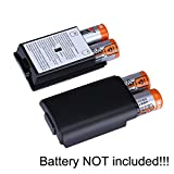 2X Black Battery Pack Cover Shell Case Kit for Xbox 360 Wireless Controller