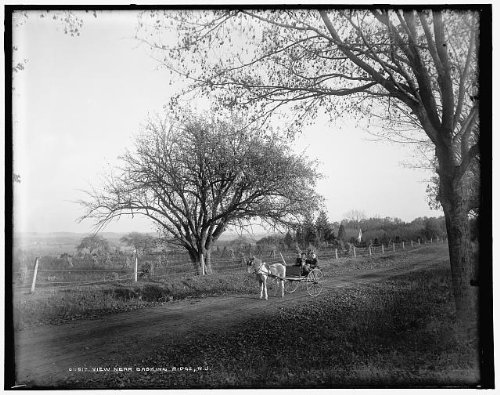 HistoricalFindings Photo: View,Basking Ridge,carts,wagons,roads,streets,horse drawn, Jersey,NJ,c1900 -