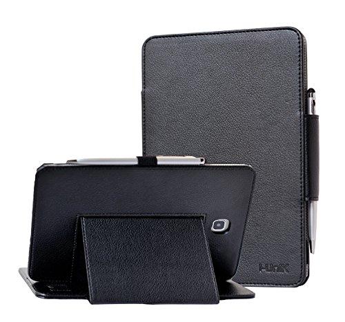 i-UniK Samsung Galaxy TAB A 8.0 inch Compatible SM-T350 case Slim Folio Case w/Auto Sleep Awake [Bonus Stylus] (Black)