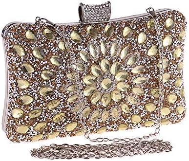 ハンドバッグ - 女性の絶妙なクラッチ、ガラスダイヤモンドディナーバッグ小型スクエアバッグ結婚式バッグ、ポリエステル素材のガラスドリルラインストーン、20 * 12 * 6CM よくできた