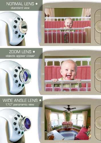 Infant Optics Add-On Camera for DXR-8 Video Monitor with Interchangeable Lens Function