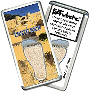 """product image for Costa Rica """"FootWhere"""" Souvenir Fridge Magnet. Made in USA (CR205 - Nat'l. Museum)"""