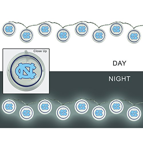 Team Sports America University of North Carolina Outdoor Safe Battery Powered String Light Set