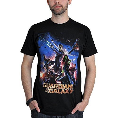 Guardianes-de-la-Galaxia-Camiseta-Star-Lord-Gamora-Negra
