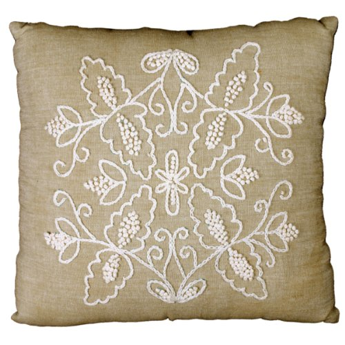 Tobin Symmetry Candlewicking Kit, 14 by 14-Inch - Pillow Candlewicking Embroidery Kit