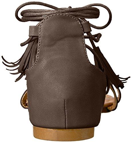 Brinley Co Womens Aviss Flat Sandal Brown