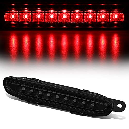 Smoked Housing Full LED Third 3rd Tail Brake Light Rear Cneter Stop Lamp for 06-10 Dodge Charger - 3rd Brake Light Smoked