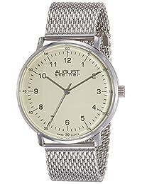 August Steiner Men's AS8091SS Analog Display Swiss Quartz Silver Watch
