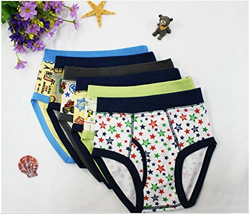 Price comparison product image Little Boys' 6-pack Cotton Briefs (Toddler/kid) (2T/3T)