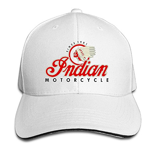 Fuerver Indian Motorcycles Symbol Value Logo Brim Hats Sandwich Peaked Hat