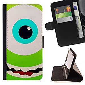 Momo Phone Case / Flip Funda de Cuero Case Cover - Ojo verde Happy Kids Cartoon - Sony Xperia Style T3