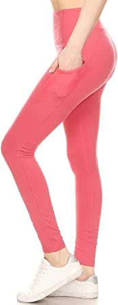 Awesome J Soft Opaque Slim Daily Yoga Pants Activewear with Pockets