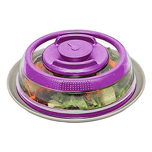 (JonerytimeAirtight Vacuum Food Sealer Mintiml Cover Kitchen Instant Vacuum Food Sealer Fresh Cove Purple)