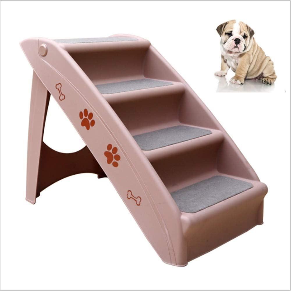 YSYDE Pasos de Acceso Plegables para Perros o Mascotas. El diseño de la Escalera de 4 Pisos es Ascendente y sin estrés. Este Producto está diseñado para Perros pequeños.: Amazon.es: Hogar