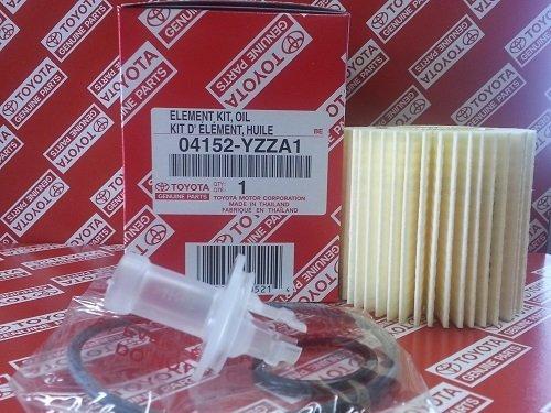 Genuine OEM Lexus Toyota 04152-Yzza1 Oil Filters + Drain Plug Gaskets - Set Of 5 (Toyota Oem Oil Filter)