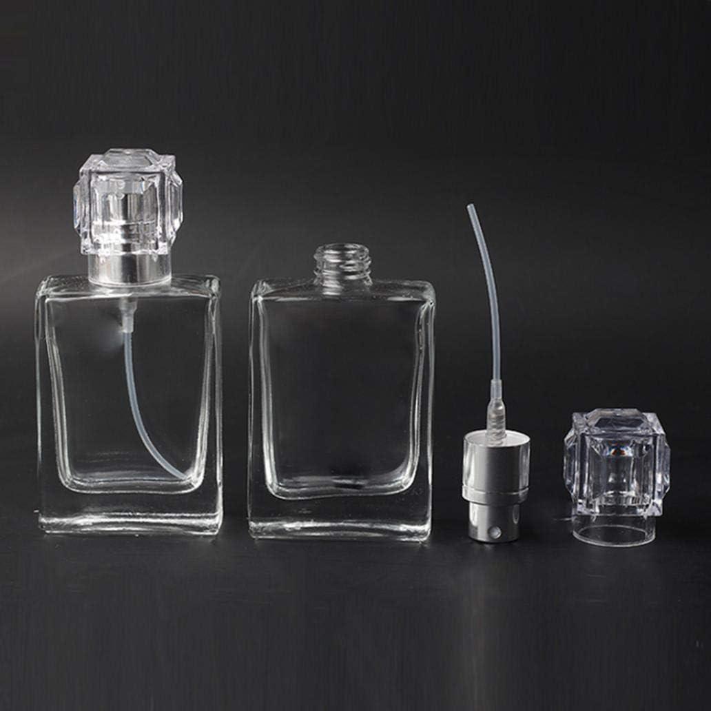 Rechargeable Flacon Vaporisateur de Parfum pour Voyage cosm/étiques Argent Flacon Vide de 30 ML en Verre Transparent