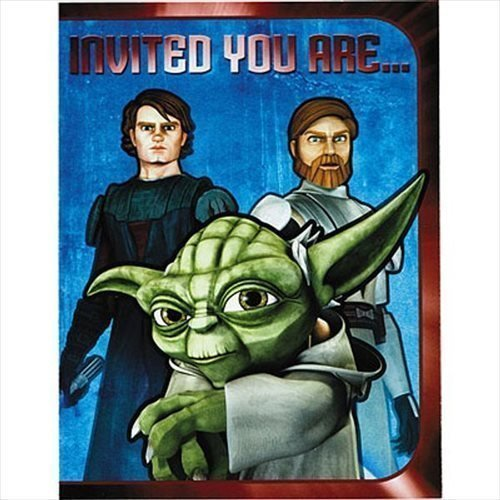 Star Wars Clone Wars Invitations and Thank You -
