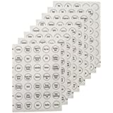 """AllSpice 280 Preprinted Water Resistant Round Spice Jar Labels Set 1.5""""- Fits Penzeys and AllSpice Jars-4 styles to choose from (Modern White)"""