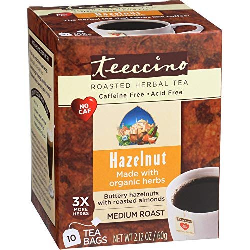 Teeccino Hazelnut Herbal Coffee 10 Tea Bags ()