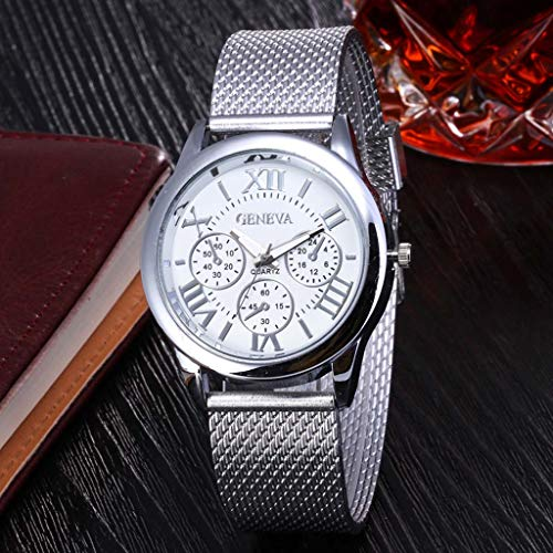 Amazon.com: Pengy Men&Woman Watch Precision Scale Dial Wrist Watch Three Eye Roman Scale Dial Casual Silicone Strap Lady Watch: Watches