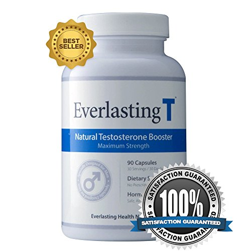Everlasting T - Testosterone Booster - Natural Testosterone Supplement - Proven Ingredients to Increase Testosterone Levels (Best Proven Natural Testosterone Booster)