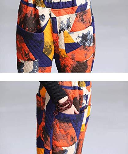 traspirante pantaloni Worclub pantaloni spessore donne caldi traspirante Autunno retrò casual Orange di e inverno qc4zWRq
