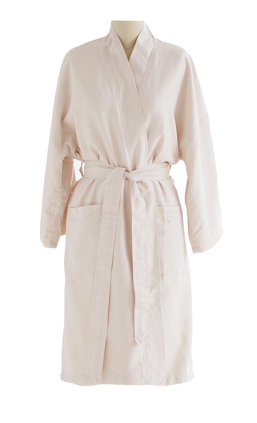 Kimono Bathrobe - Lightweight Microfiber Robe With Plush Minx Lining - Spa & Hotel Luxury - Perfect for Men and Women