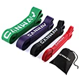 CANWAY 4 Packs Pull Up Bands Stretch Resistance Band - 4 Levels ( Light Medium Heavy Combo Set of 4...