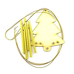 Navidad carillón de viento con tubos de metal diy craft kit, Xmas Tree