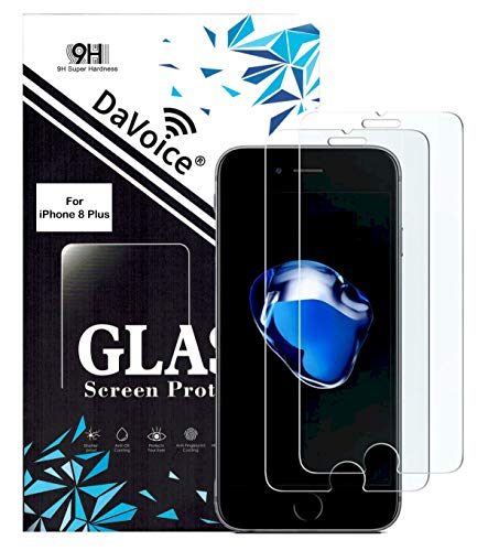 DaVoice 8 Plus Screen Protector Tempered Glass Vidrio Templado Compatible with iPhone Glass Screen Protector 8 Plus, Phone Screen Protector iPhone 8 Plus, Screen Protectors for iPhone 8 Plus (2 Pack)