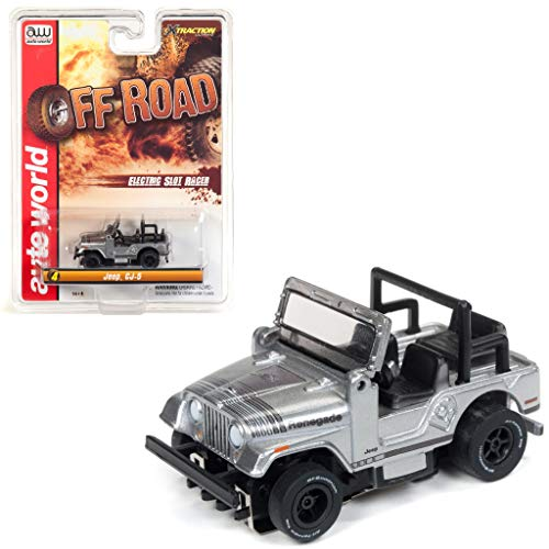 Auto World SC335-4G Off Road X-Traction Jeep CJ-5 Clam Shell HO Scale Slot Car from DDK