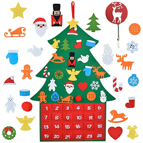 Outgeek Arts Crafts Girls, Teens, Kids,18 Pcs DIY Project Ideas, Creative Set Crafting Set Birthday Craft Gifts Advent Calendar Advent Calendar with Pockets
