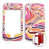 Apple iPhone 4 - 4S (AT&T/Verizon/Sprint) Red/Orange/Purple Zebra Print iPhone 4 Hard Case/Cover/Faceplate/Snap On/Housing/Protector