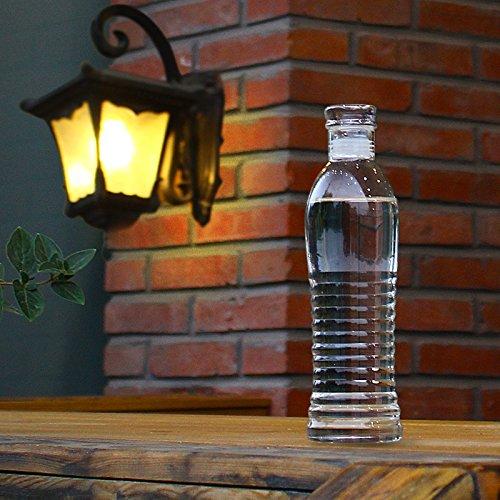 Durable y elegante bebidas botella sin BPA resistente al cristal de borosilicato Botella de agua de vidrio con funda de nailon botella para hacer deporte 500 ml