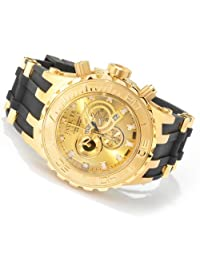 Invicta Mens Reserve Subaqua Specialty Swiss Made Chronograph 18k Gold Plated Watch 6905