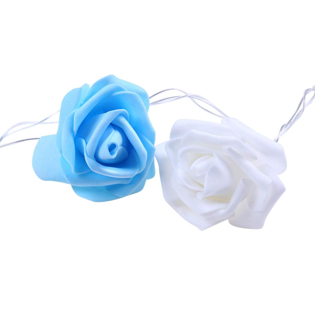 Guirnalda de Luces LED 3,7 m, Funciona con Corriente, dise/ño de Rosas, luz Blanca c/álida, decoraci/ón para Dormitorio de ni/ñas, Bodas, tocadores, Rosas Glowjoy