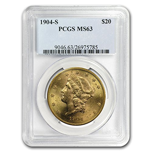 1904 S $20 Liberty Gold Double Eagle MS-63 PCGS G$20 MS-63 PCGS