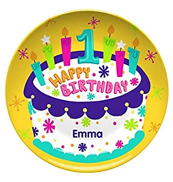 amazon com personalized happy birthday plate 10 resin