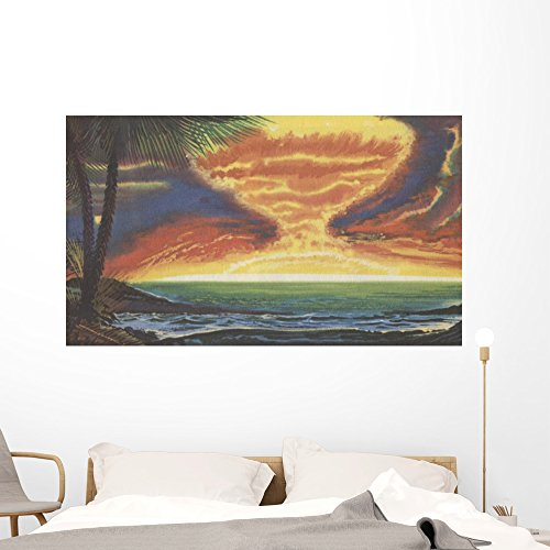 H-bomb Testing Bikini Atoll Wall Mural by Wallmonkeys Peel and Stick Graphic (60 in W x 35 in H) (Nuclear Testing Bikini)