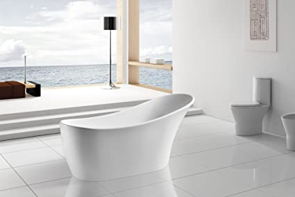 AKDY F278 Bathroom White Color Free Standing Acrylic Bathtub
