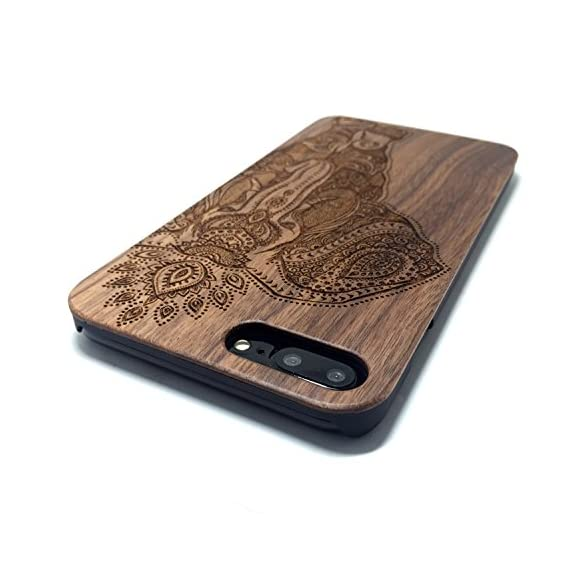 iPhone 7 PLUS Case,BTHEONE Real Natural Wood Cover for iPhone 7 PLUS Unique Handmade Cute Protective iPhone 7 PLUS Case (5.5 Inch) (Walnut-Elephant) 4 √ Compatible with iPhone 7 (Not for iPhone7 Plus) √ Naturally wood different,each wood back has a unique grain and texture. √ Specially designed for iPhone 7, has precise design for speakers, charging ports, audio ports and buttons.
