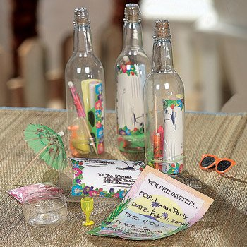 24 Message in a Bottle Luau Tropical Pool Party (Invitation In A Bottle)