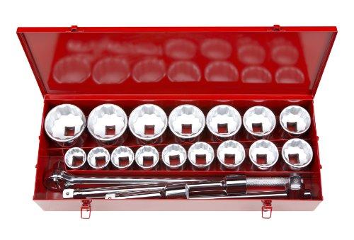 TEKTON 1120 1-Inch Drive Jumbo Socket Set, Inch, 1-5/8-Inch - 3-1/8-Inch, 21-Piece