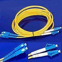 Connectors Jumper 3M Cable Duplex Singlemode LC-SC LC to SC Fiber Optic Optical Patch Cord C26 3m LC SC Naranja Cable de Fibra optica, 3m