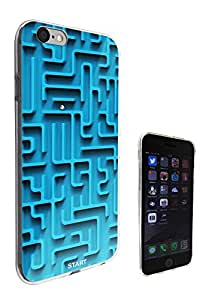 197 - Please Note this only a print Cool Fun maze Print Look Design iphone 5 5S Fashion Trend CASE Gel Rubber Silicone All Edges Protection Case Cover