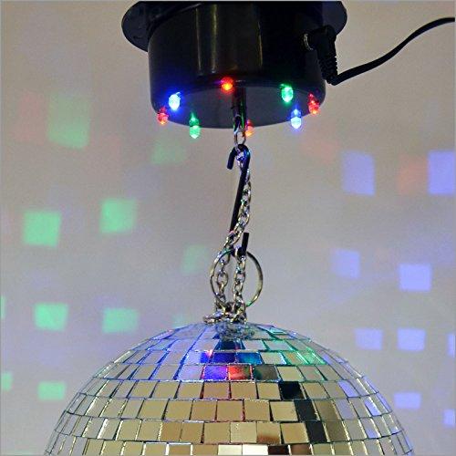 LED-Multicolor Motor Deckenmotor Antrieb für Spiegelkugel / Discokugel Discokugelmotor - Traglast bis 3 kg