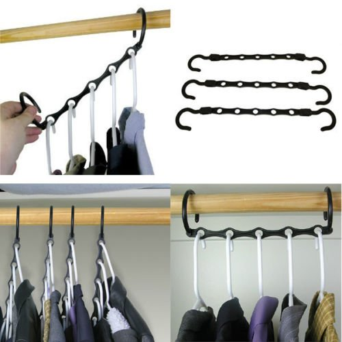 Magic Hangers Set of 10 As Seen On TV Save Closet Space Clothes Organizer purse
